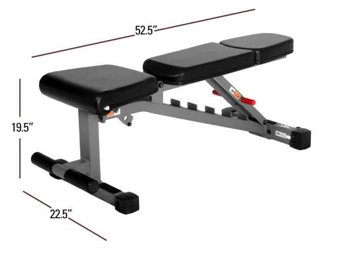 xmark xm 7630 weightbench dimensions