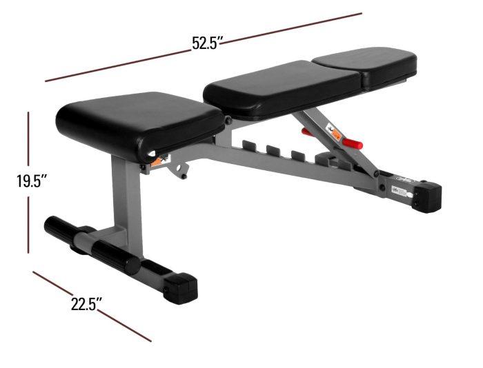 xmark xm 7630 weightbench dimensions